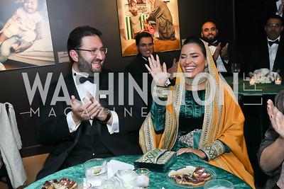 HRH Abdulaziz bin Talal bin Abdulaziz Al Saud and HH Princess Sora Saud. Photo by Tony Powell. 2019 Mentor Foundation Gala. House of Sweden. November 15, 2019