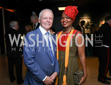 Botswana Amb. David Newman and Changu Newman. Photo by Tony Powell. 2019 Mentor Foundation Gala. House of Sweden. November 15, 2019