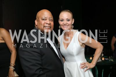 LaMont Wells, Michaela Pratt. Photo by Tony Powell. 2019 Mentor Foundation Gala. House of Sweden. November 15, 2019