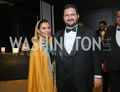 HH Princess Sora Saud and HRH Abdulaziz bin Talal bin Abdulaziz Al Saud. Photo by Tony Powell. 2019 Mentor Foundation Gala. House of Sweden. November 15, 2019