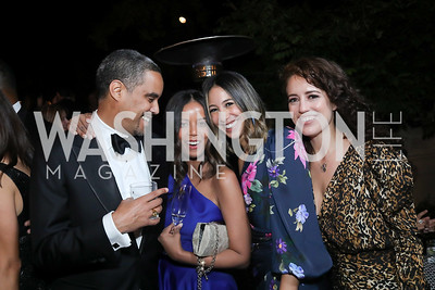 Prince Yoel Makonnen and Princess Ariana Makonnen, Karina Gutierrez, Sarah Aburdene. Photo by Tony Powell. 2019 Meridian Ball. October 25, 2019