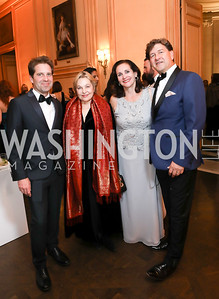 Michael Schaffer, Francesca Craig, Karen Anderson and Lyndon Boozer. Photo by Tony Powell. 2019 Meridian Ball. October 25, 2019