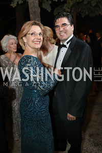 Lubka Stoytchev and Bulgaria Amb. Tihomir Stoytchev. Photo by Tony Powell. 2019 Meridian Ball. October 25, 2019