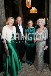 Baroness Alexandra N. Sényi de Nagy-Unyom, Luxembourg Amb. Gaston Stronck, Monika Langer, Robin Phillips. Photo by Tony Powell. 2019 Meridian Ball. October 25, 2019