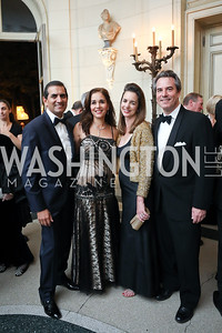 Roy and Manisha Kapani, Gwen and Stuart Holliday. Photo by Tony Powell. 2019 Meridian Ball. October 25, 2019