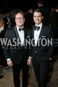 Timothy Lowery, Michael Zingali. Photo by Tony Powell. 2019 Meridian Ball. October 25, 2019