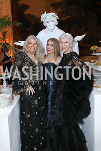 Barbara Hawthorn, Leila Beale, Jan Du Plain. Photo by Tony Powell. 2019 Meridian Ball. October 25, 2019