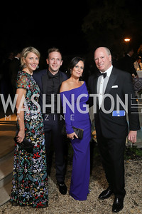 Loran Aiken, Dep. Assistant to the President Max Miller, White House Press Secretary Stephanie Grisham, Robbie Aiken. Photo by Tony Powell. 2019 Meridian Ball. October 25, 2019
