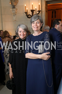 Sweden Amb. Karin Olofsdotter, Denmark Amb. Lone Wisbord. Photo by Tony Powell. 2019 Meridian Ball. October 25, 2019