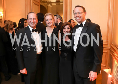 Alex and Jennifer Azar, Lisa Barsoomian and Rod Rosenstein. Photo by Tony Powell. 2019 Meridian Ball. October 25, 2019