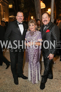 Tunisia Amb. Faycal Gouia, Annie Totah, Jose Alberto Ucles. Photo by Tony Powell. 2019 Meridian Ball. October 25, 2019
