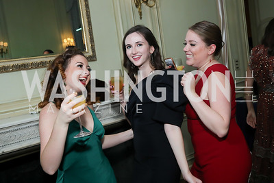 Rebekah Nantz, Kathleen Shea, Charlotte Watiez. Photo by Tony Powell. 2019 Meridian Ball. October 25, 2019