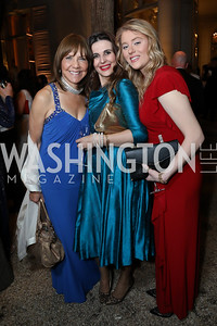 Barbara Harrison, Kosovo Amb. Vlora Citaku, Modesta Imeri. Photo by Tony Powell. 2019 Meridian Ball. October 25, 2019