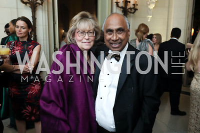 Debbie Driesman and Frank Islam. Photo by Tony Powell. 2019 Meridian Ball. October 25, 2019