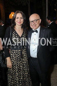 Ljiljana Vidovic, Slovenia Amb. Stanislav Vidovič. Photo by Tony Powell. 2019 Meridian Ball. October 25, 2019