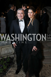 Azerbaijan Amb. Elin Suleymanov and Lala Abdurahimova. Photo by Tony Powell. 2019 Meridian Ball. October 25, 2019