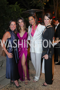 Denise Grant, Reem Sadik, Ann Walker Marchant, Natalie Jones. Photo by Tony Powell. 2019 Meridian Ball. October 25, 2019