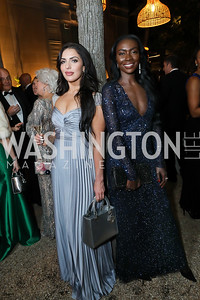 Sara Hyatt, Areej Hassan. Photo by Tony Powell. 2019 Meridian Ball. October 25, 2019