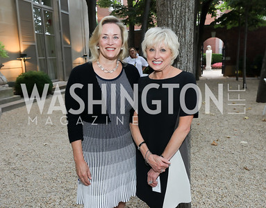 Claire Dwoskin, Debra Schiff. Photo by Tony Powell. 2019 Meridian Social Secretaries & Cultural Attachés Celebration. August 2, 2019