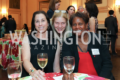 Karen Taylor, Gilda Almeida, Alicia Adams. Photo by Tony Powell. 2019 Meridian Social Secretaries & Cultural Attachés Celebration. August 2, 2019