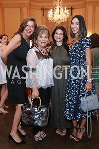 Loretta Greene, Annie Totah, Christina Perrone, Karina Gutierrez. Photo by Tony Powell. 2019 Meridian Social Secretaries & Cultural Attachés Celebration. August 2, 2019
