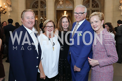 Gov. Jim Blanchard and Janet Blanchard, Lee Satterfield, David Adler, Ann Stock. Photo by Tony Powell. 2019 Meridian Social Secretaries & Cultural Attachés Celebration. August 2, 2019