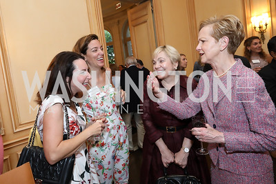 Sandra Pandit Cook, Francesca Baldanzi, Francesca Craig, Ann Stock. Photo by Tony Powell. 2019 Meridian Social Secretaries & Cultural Attachés Celebration. August 2, 2019