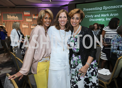 Daphne Jarvis, Hillary Baltimore, Pinkie Mayfield. Photo by Tony Powell. 2019 N Street Village Luncheon. Ritz Carlton. May 23, 2019