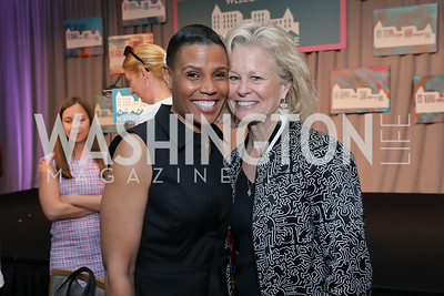 Tanya Baskin, Linda Potter. Photo by Tony Powell. 2019 N Street Village Luncheon. Ritz Carlton. May 23, 2019