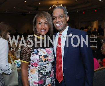 Erika Bolden, Councilmember Brandon Todd. Photo by Tony Powell. 2019 N Street Village Luncheon. Ritz Carlton. May 23, 2019