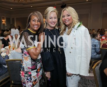 Erika Bolden, Jacqui Michel, Andrea Rinaldi. Photo by Tony Powell. 2019 N Street Village Luncheon. Ritz Carlton. May 23, 2019
