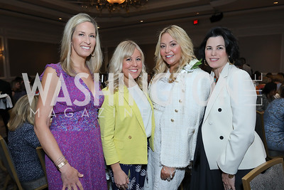 Laura Evans, Maggie O'Neill, Andrea Rinaldi, Jen Gage. Photo by Tony Powell. 2019 N Street Village Luncheon. Ritz Carlton. May 23, 2019