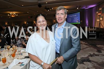 Trish Yan, Jonathan Taylor. Photo by Tony Powell. 2019 N Street Village Luncheon. Ritz Carlton. May 23, 2019