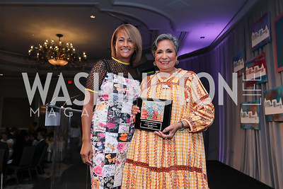 Erika Bolden, Cathy Hughes. Photo by Tony Powell. 2019 N Street Village Luncheon. Ritz Carlton. May 23, 2019