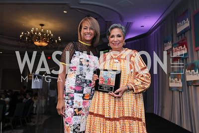 Erika Bolden, Cathy Hughes. Photo by Tony Powell. 2019 N Street Village Luncheon. Ritz Carlton. May 23, 2019