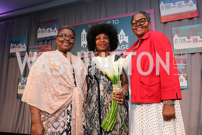 Lolita Mitchell, Pertrina Thomas, Rose Shaw. Photo by Tony Powell. 2019 N Street Village Luncheon. Ritz Carlton. May 23, 2019