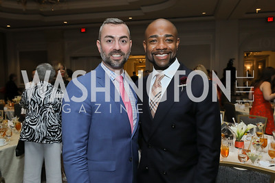 Wayne Fortune and Brandon Clay. Photo by Tony Powell. 2019 N Street Village Luncheon. Ritz Carlton. May 23, 2019