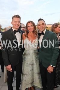 DJ Gerrish, Erika Schiller, Bryan Weissbach. Photo by Tony Powell. 2019 NSO Gala. Kennedy Center. September 28, 2019.JPG