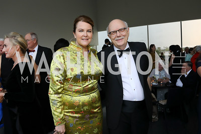 Rachel Pearson, Sam Dawson. Photo by Tony Powell. 2019 NSO Gala. Kennedy Center. September 28, 2019
