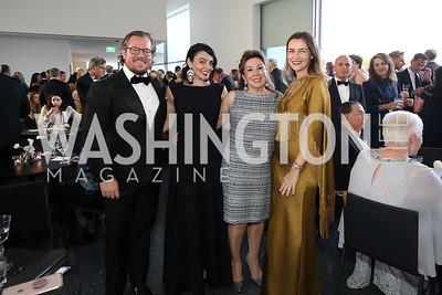Damir Fazlic, Mona Hamdy, Maha Kadoura, Amra Fazlic. Photo by Tony Powell. 2019 NSO Gala. Kennedy Center. September 28, 2019