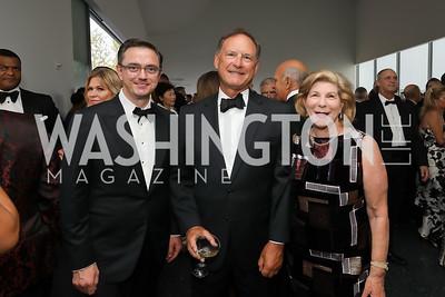 Washington National Opera General Director Tim O'Leary, Justice Samuel Alito, Nina Totenberg. Photo by Tony Powell. 2019 NSO Gala. Kennedy Center. September 28, 2019