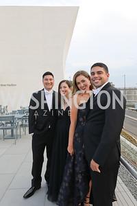 Brandon Dotson, Stephanie Alire, Megan Pelino, Zach Alire. Photo by Tony Powell. 2019 NSO Gala. Kennedy Center. September 28, 2019