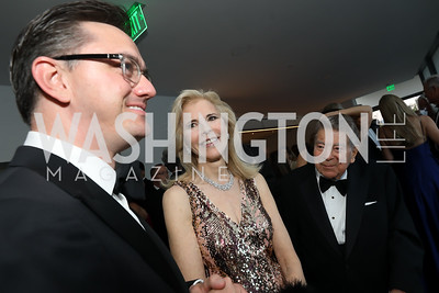 Washington National Opera General Director Tim O'Leary, Jane and Calvin Cafritz. Photo by Tony Powell. 2019 NSO Gala. Kennedy Center. September 28, 2019