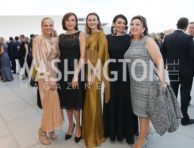 Jamie Dorros, Maguy Maccario Doyle, Amra Fazlic, Mona Hamdy, Maha Kadoura. Photo by Tony Powell. 2019 NSO Gala. Kennedy Center. September 28, 2019.JPG