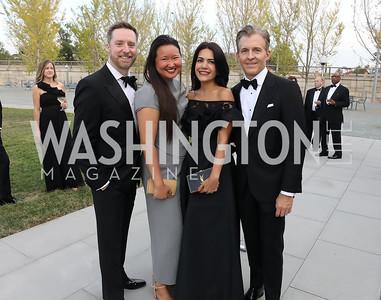 Tad Czyzewski, Tiffany Chen, Nazgol and Kevin Fearnow. Photo by Tony Powell. 2019 NSO Gala. Kennedy Center. September 28, 2019