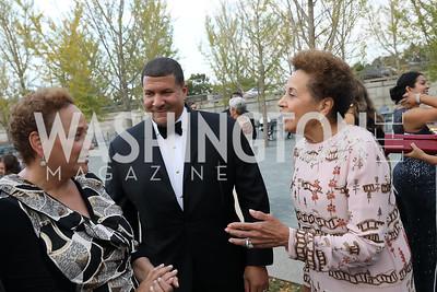 Jo Ann Jenkins, Dale Mott, Joyce Moorehead. Photo by Tony Powell. 2019 NSO Gala. Kennedy Center. September 28, 2019