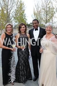Kristan King Nevins, Hannah Haberkamp, Eric Motley, Martha Ann Alito. Photo by Tony Powell. 2019 NSO Gala. Kennedy Center. September 28, 2019