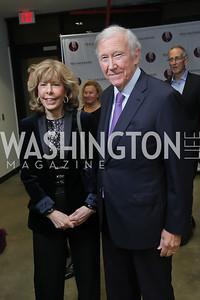 Jane Hitchcock and Jim Hoagland. Photo by Tony Powell. 2019 PEN/Faulkner Gala. Katzen Center. October 26, 2019