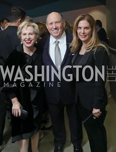 Lisa Barry, Wayne and Lea Berman. Photo by Tony Powell. 2019 PEN/Faulkner Gala. Katzen Center. October 26, 2019