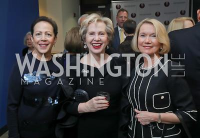 Marilyn Dabaghi, Lisa Barry, Barbara Wall. Photo by Tony Powell. 2019 PEN/Faulkner Gala. Katzen Center. October 26, 2019